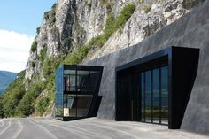 This Modern Pad Embedded in a Cliff is Actually a Firehouse