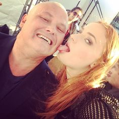 Conleth Hill and Sophie Turner
