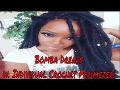 HOW TO: RE-USE BOMBA DREADS w/ INDIVIDUAL CROCHET PERIMETER - YouTube