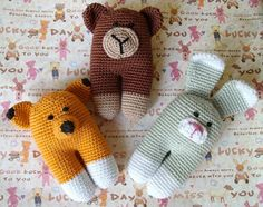 Your place to buy and sell all things handmade 3 Bears, Crochet Toys, Baby Toys, Little Ones, Crochet Patterns, Bunny, Container, Delicate, Smooth