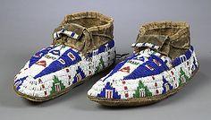 lakota sioux beadwork | Lakota Sioux Beaded Hide Moccasins, - Cowan's Auctions