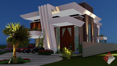 Classic House Design, Duplex House Design, House Elevation, Front Elevation, Wooden Sofa Designs, 3d Home, Entrance Design, Best House Plans, Building Design