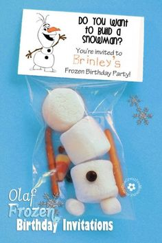 Olaf Frozen Invitations - 15 Magical DIY Frozen Party Ideas | GleamItUp