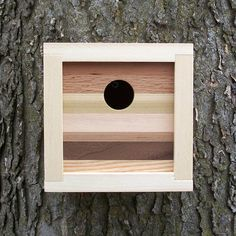 Modern Contemporary Reclaimed Wood Birdhouse
