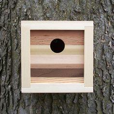 Modern Contemporary Reclaimed Wood Birdhouse