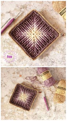 Crochet Element Cal Free Crochet Pattern -Video Crochet Element Cal Free Crochet Pattern -Video You are in the right place about Crochet doilies Here we. Motifs Granny Square, Crochet Motifs, Granny Square Crochet Pattern, Crochet Blocks, Crochet Squares, Crochet Blanket Patterns, Free Crochet, Knit Crochet, Crochet Stitches