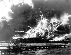 """The bombing of Pearl Harbor """"Yesterday, December 7, 1941 — a date which will live in infamy — the United States of America was suddenly and deliberately attacked,"""" President Franklin Delano Roosevelt told Congress."""