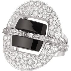 CHANEL Ultra 18K white gold, black ceramic and diamond ring (€10.035) ❤ liked on Polyvore featuring jewelry, rings, 18 karat gold ring, diamond rings, chanel jewelry, white gold jewellery and diamond jewelry