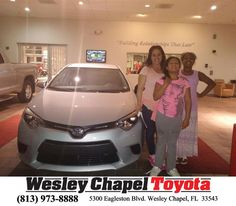https://flic.kr/p/G6zPuE | Happy Anniversary to Vanessa on your #Toyota #Corolla from David Rivera at Wesley Chapel Toyota! | deliverymaxx.com/DealerReviews.aspx?DealerCode=NHPF