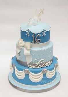 Cinderella+Sweet+16+Cake | Cinderella Sweet 16 Cake