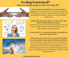 Feeling Frustrated? Help Take the Edge off with 4 Simple Steps