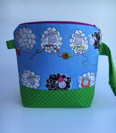 Small Zippered Knitting Project Bag by partyof5crafts on Etsy