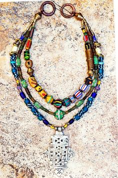 Custom African Trade Bead Necklace African-trade-beads