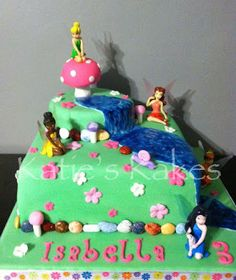 Katie's Kakes: Tinker Bell and Fairy Friends Cake