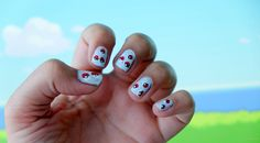 Pokémon GO nail-art by Nynkek Nail Art Diy, Diy Nails, Pokemon Go