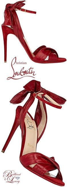 Brilliant Luxury ♦ Christian Louboutin Marylineska eel skin & suede ankle-strap sandals