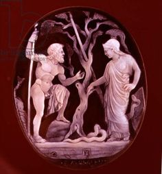 Cameo of Poseidon and Athena Competing for dominion over Attica, 1st century BC  (onyx and sardonyx)