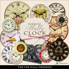 Scrapbooking TammyTags -- TT - Designer - Far Far Hill, TT - Item - Element, TT - Thing - Clock or Watch