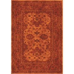 Melodic Vintage Posh Red Area Rug | Wayfair