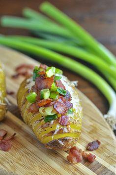 #Recipe / Bacon Parmesan Hasselback Potatoes