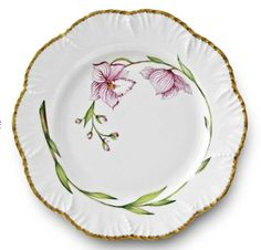Jardin D'Orchidees Jardin D'Orchidees Dessert Plate from Alberto Pinto in New York, NY from William-Wayne & Co.