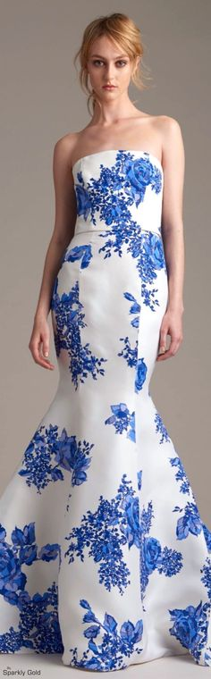 Monique Lhuillier Resort 2016 ♔ Très Haute Diva ♔ For the best of Resort 2016 go… Floral Fashion, Love Fashion, Fashion Show, High Fashion, Monique Lhuillier, Couture Fashion, Runway Fashion, Traje A Rigor, Beautiful Gowns