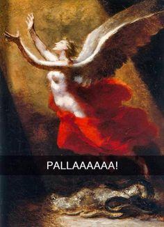 Se i quadri potessero parlare: l'ironia su Instagram Funny Images, Funny Pictures, Italian Humor, Funny Paintings, Funny Phrases, Sarcastic Humor, Feeling Happy, Funny Art, Comic Art