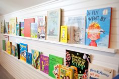 Love this idea for displaying books in a child's room!