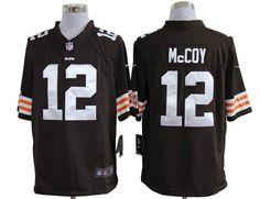 brown McCoy game NFL Cleveland Browns #12 Jersey