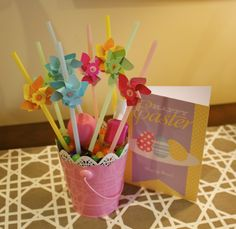 Cute pinwheel gift is great with a card.