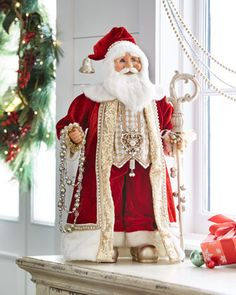 """Red+&+Gold""+Santa+by+Karen+Didion+Originals+at+Horchow."