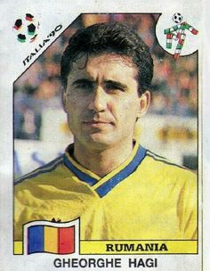 Gheorghe Hagi of Romania. 1990 World Cup Finals card.