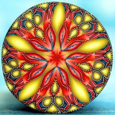 Polymer Clay Kaleidoscope Circle Cane  'Lil Bits' by ikandiclay, $16.00