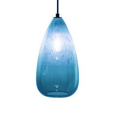 Cone Bubble Pendant Steel Blue by Caleb Siemon
