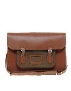 "The Cambridge Satchel Company 15"" Leather Satchel with Cord Pocket"