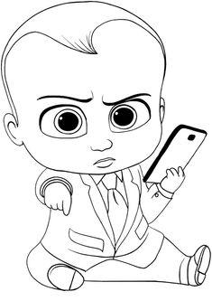 68 mejores imágenes de boss baby libro d pintar | Bebé jefazo ...