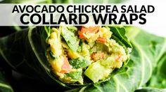 Avocado Chickpea Salad Collard Wraps | Vegan & Gluten-Free