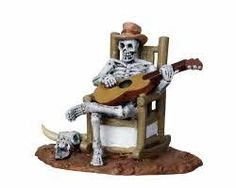 Lemax Spooky Town Rocking Chair Skeleton  22003 -- This is an Amazon Affiliate link. Visit the image link more details.