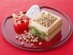 2月3日 : Setsubun,bean and mask Japanese Colors, Japanese Love, Japanese Things, Japanese Food Sushi, Winter In Japan, Hina Matsuri, New Year Art, Japanese New Year, Japan Crafts