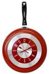 foto produto relógio frigideira cozinha