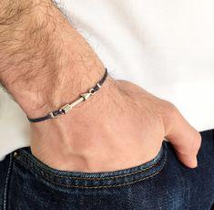 Men's Silver Plated Arrow Friendship Bracelet  by IzouBijoux