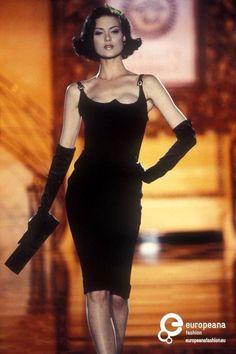 GIANNI VERSACE SEXY EMBELLISHED STRAP RUNWAY 1995 DRESS SZ SMALL  | eBay