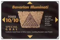 """In 1990, role-playing inventor, Steve Jackson, was planning his newest game, which he would ultimately call the """"Illuminati -- New World Order"""" Game, or """"INWO"""" for short. Jackson was creating a game that would hit very, very close to home. Published in 1995 - Bavarian Illuminati"""