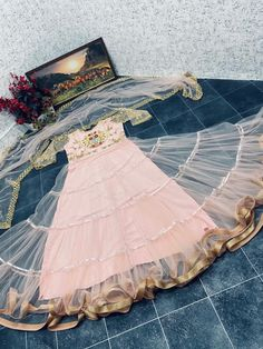 Order #WW646 Butterfly NET with Embroidery work Gown₹1630 on WhatsApp number +919619659727 or ArtistryC.in