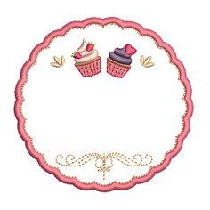 MOLDURA PARA PERSONALIZAR CAKES Baking Logo Design, Cake Logo Design, Cupcake Logo, Cupcake Card, Baking Wallpaper, Sweet Logo, Cake Frame, Cupcake Drawing, Logo Cookies