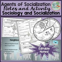 Teach your sociology students about the agents of socialization with this PowerPoint Presentation, cloze notes, and reflective activity. What you get: PowerPoint presentation with film links, cloze notes, agents of socialization, spinner, and answer keys.