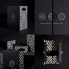 Images of Motif Wine by EN GARDE Interdisciplinary Gmbh from A' Design Award & Competition Black Packaging, Wine Packaging, Luxury Packaging, Cosmetic Packaging, Packaging Design, Branding Design, Identity Branding, Product Packaging, Corporate Design