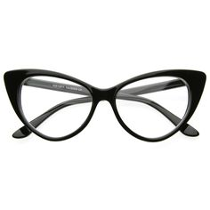Women's 1950's Vintage Fashion Cat Eye Clear Lens Glasses
