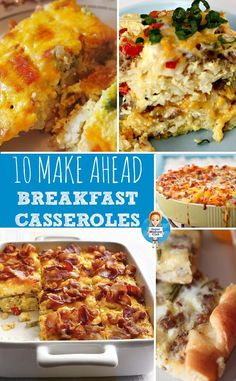 Make ahead breakfast casseroles for a crowd that are perfect for Christmas morning