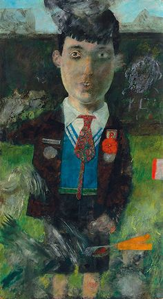Credit: Christie's Images/DACS, 2013 Peter Blake, Boy with Pigeons, 1954